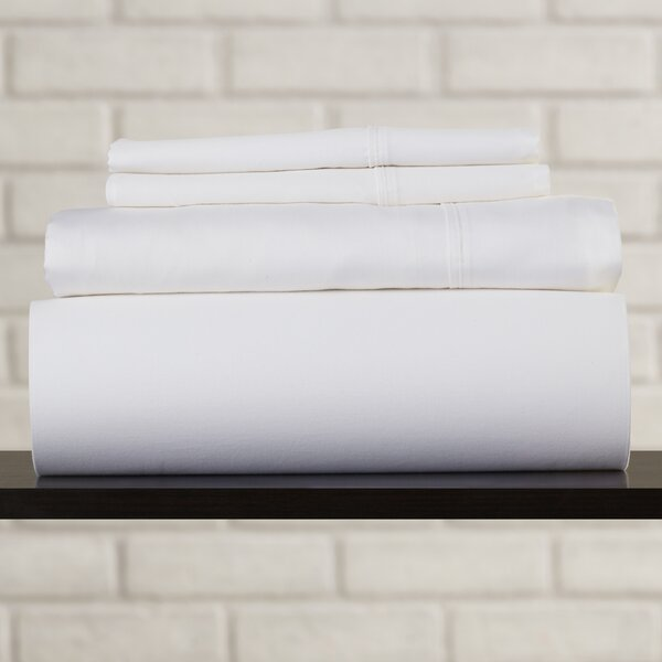 Griggs 400 Thread Count 100% Premium Cotton Sheet Set by Three Posts